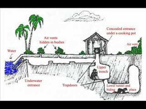 What some of the tunnels and traps looked like in Vietnam War