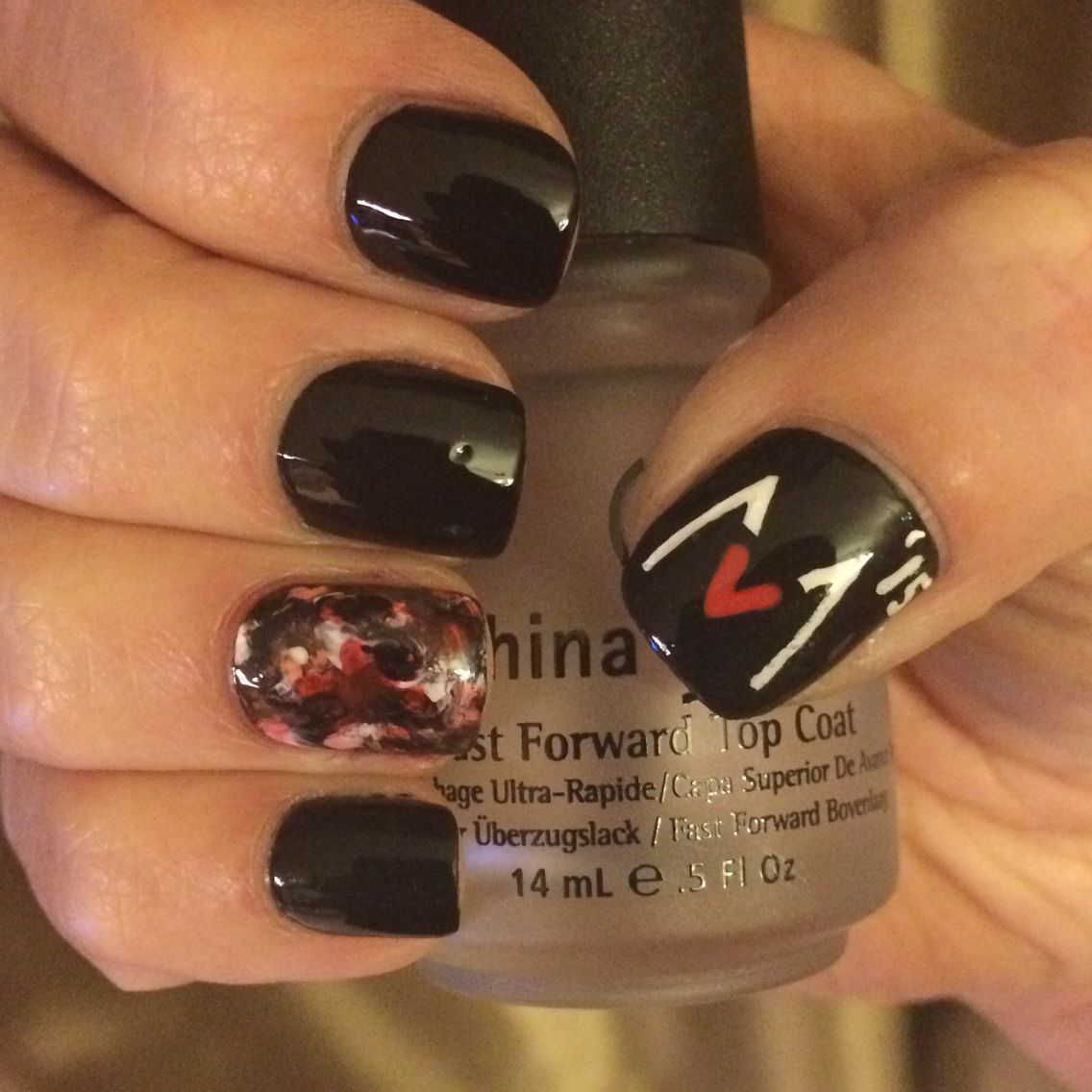 Maroon 5 Nails. Ready for the concert! | Nail art I\'ve done ...