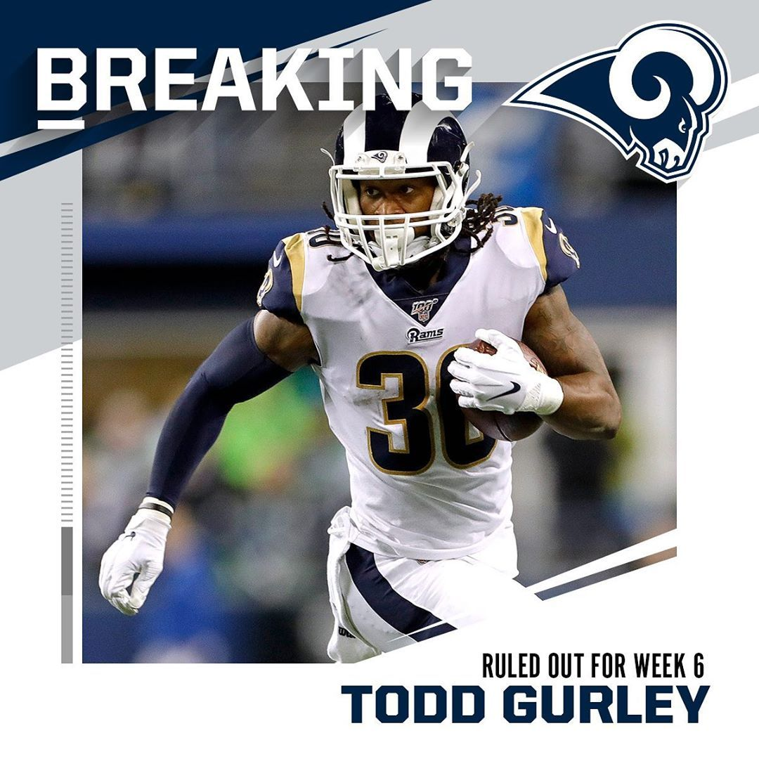 Nfl Rams Rb Todd Gurley Quad Ruled Out For Week 6 Vs 49ers Via Omardruiz G Todd Gurley Nfl Rams Quad
