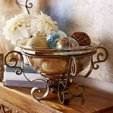 Tuscan Decorative Bowl With Stand