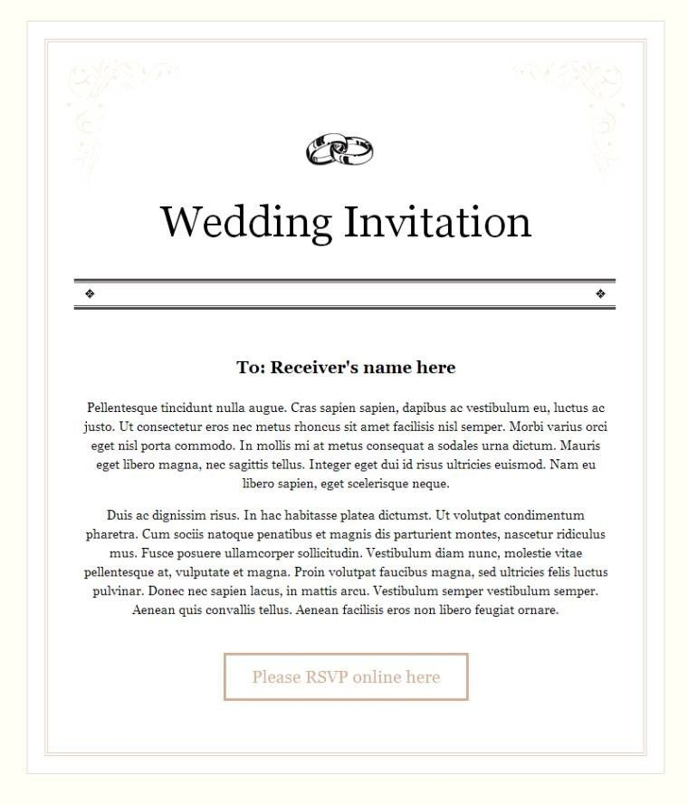 Wedding Invitation Format Wedding Invitation Message Email Wedding Invitations Wedding Invitation Format