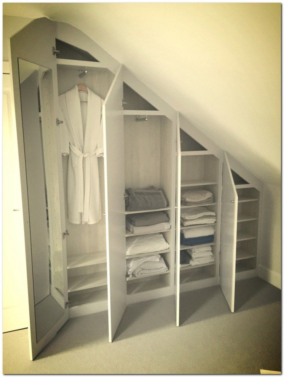 Loft bedroom closets  Simple Loft Conversion Ideas for Dormer  attic  Pinterest  Loft
