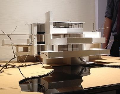 """Architecture House Model check out this @behance project: """"falling water house model"""" https"""