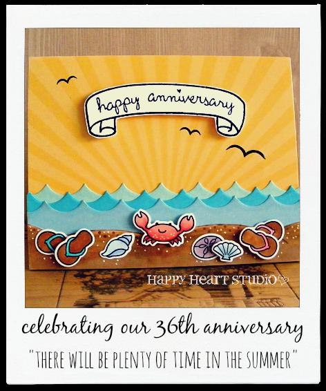 A Beach-themed Anniversary Card