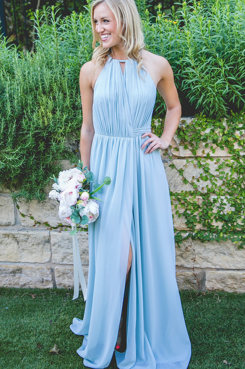 Eliza Chiffon Wrap Dress   Wedding