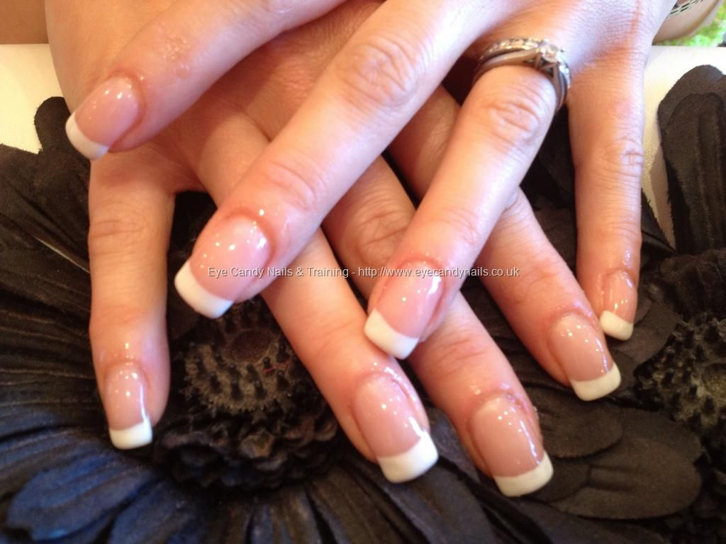 Acrylic Nails With French Gel Polish Simple Nails French Nails Nail Jewelry