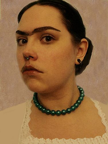 53.365 Fine Art Imitations: . Self-Portrait with Necklace by Frida Kahlo