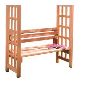 Admirable Natural Western Red Cedar Seat Arbor Bench Garden Short Links Chair Design For Home Short Linksinfo