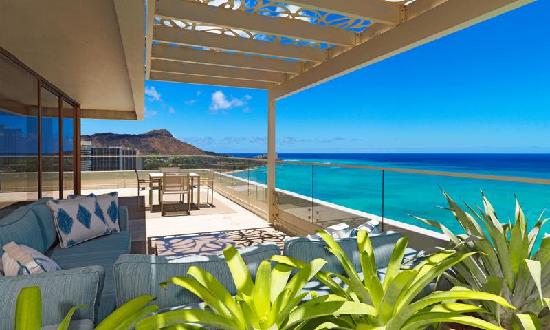 Moana Surfrider penthouse balcony Architecture, Interior