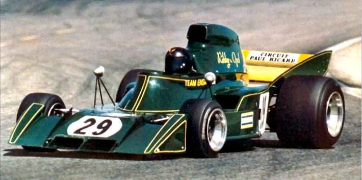 1973 Rikky von Opel, Ensign N173 Ford Race cars, Indy