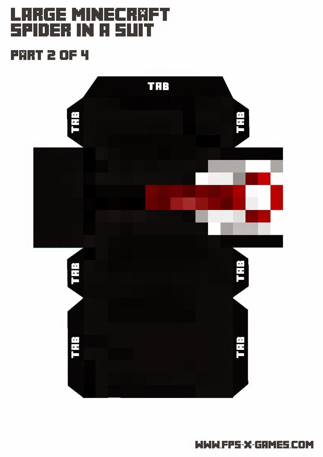 large-Minecraft-Spider-suit-papercraft-template-2-4.jpg 1,131×1,600 ...
