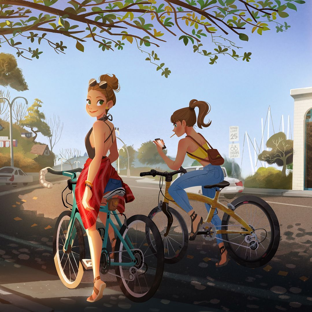 I Want To Ride My Bicycle I Want To Ride My Bike Bike Drawing Girly Art Animation Art