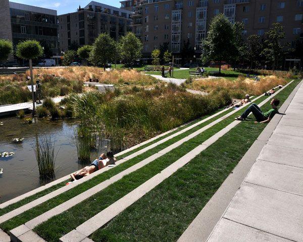 Tanner Springs Park An Oasis In The Middle Of The City Landscape Architecture Landscape Design Urban Landscape Design