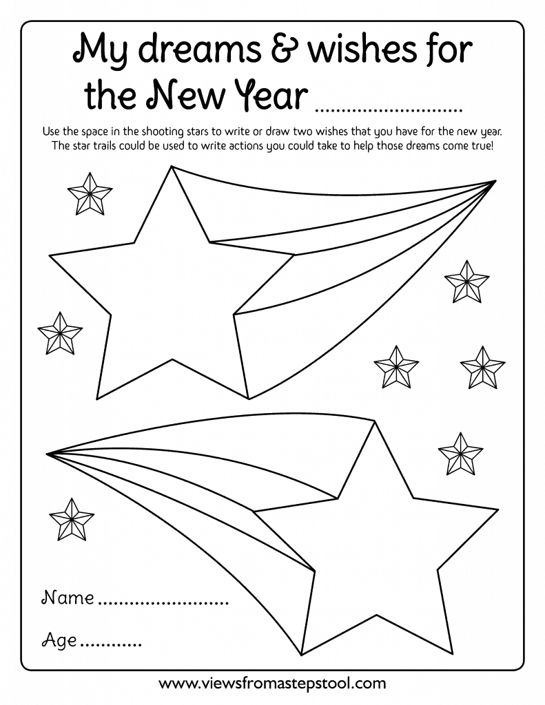 New Years Resolution Coloring Page For Kids New Year Coloring Pages Coloring Pages For Kids Coloring Pages