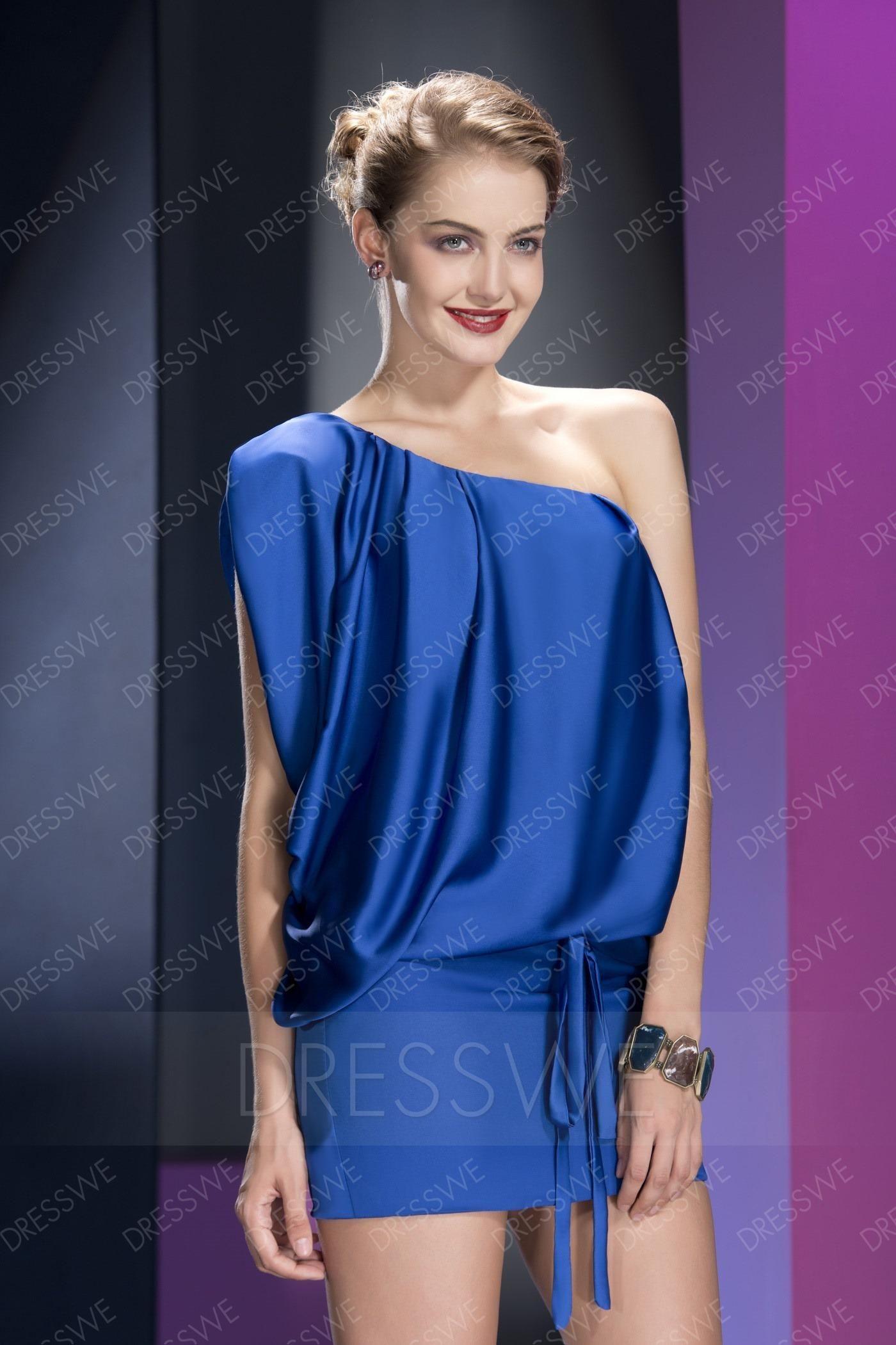 Dresswe dresswe sleeveless sheathcolumn mini oneshoulder