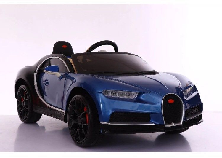 New Bugatti Chiron Style Kids Ride On Child Toy Car 12v Remote Control Blue Ebay Toy Cars For Kids Bugatti Chiron Kids Ride On
