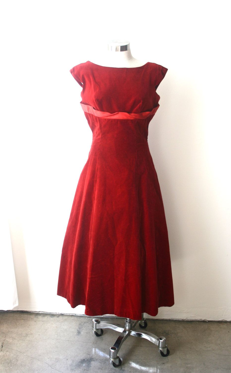 M s s red velvet cocktail party dress winter ball cranberry by