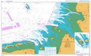 British Admiralty Nautical Chart 1875: BA Chart 1875: North Sea – Germany, Entrances to the Jade, Weser and Elbe