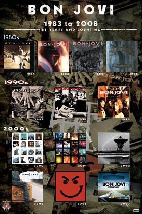 Bon Jovi Album Covers Music Hardboards Wall Decor