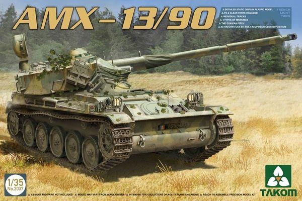 Model Takom 2037 Francuski Czolg Amx 13 90 Tank Plastic Model Kits Model