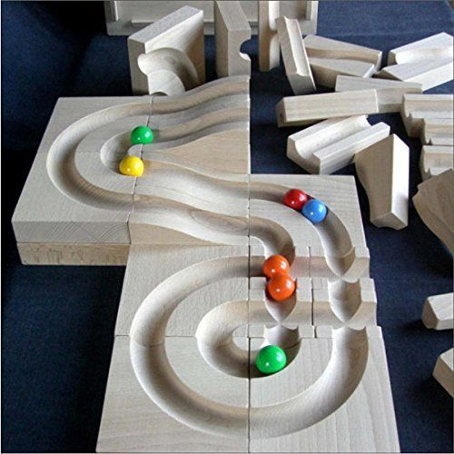 Ball Track Marble Run Wooden Track Waves In Box 20cm New Games Marble Machine Marble Run Wooden