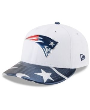 f00ad88bc4a New Era New England Patriots Low Profile 2017 Draft 59FIFTY Cap - White Navy Red  7 1 4