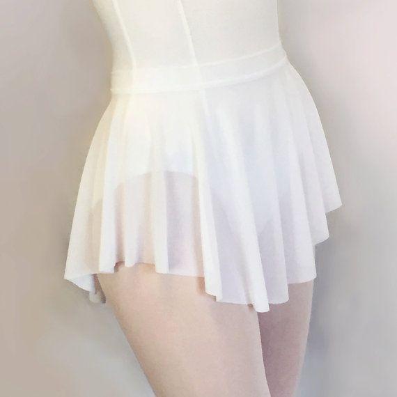 6dbcfe0f4 White Micro Mesh Ballet Sheer Dance Skirt - soft mesh with a pretty drape- SAB  style skirt by RoyallDancewear