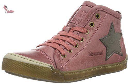 Bisgaard Schnürschuhe, Sneakers Basses Mixte Enfant - Rose - Pink (4016 Pink), 35 EU