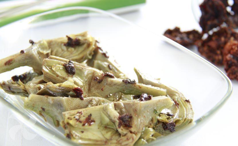 alcachofas con vinagreta de tomate seco #alcachofas #vinagreta #tomateseco #comidasana #thermomix