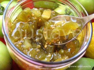 Confiture de tomates vertes au citron tomates pinterest chutney desserts et pickles - Cuisiner des tomates vertes ...