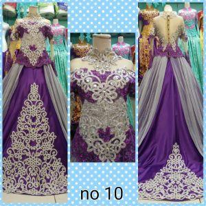 Kebaya Pengantin Ungu Silver Wedding Dresses Indonesia Kebaya
