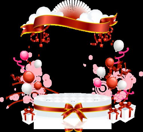 أجمل سكرابز بالونات للعيد بدون تحميل أروع سكرابز بالالين العيد بخلفيات شف Ribbon Banner Birthday Birthday Clipart