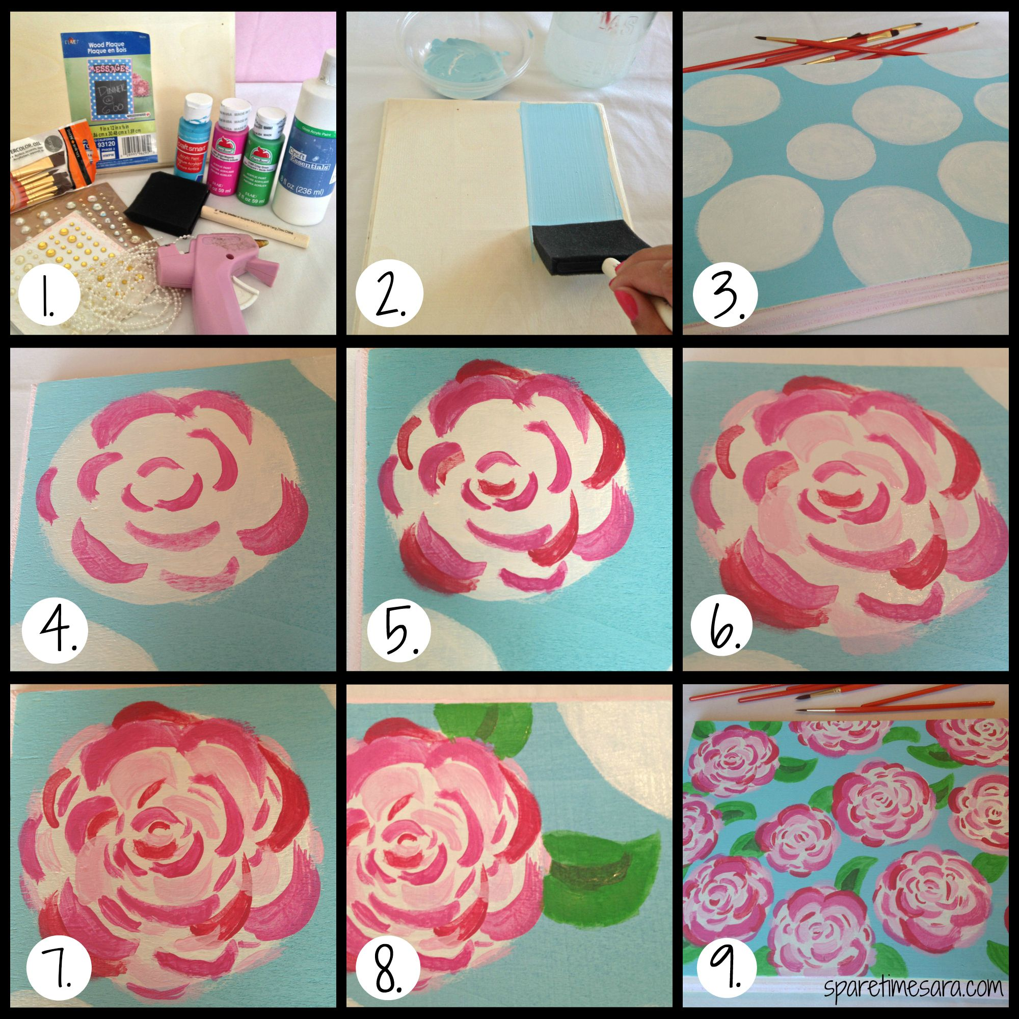 How to paint flowers 40