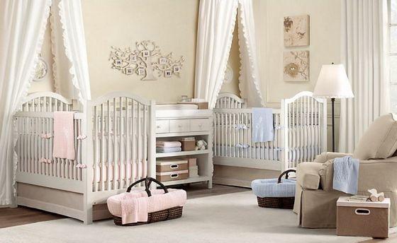 decorar cuarto de bebes mellizos