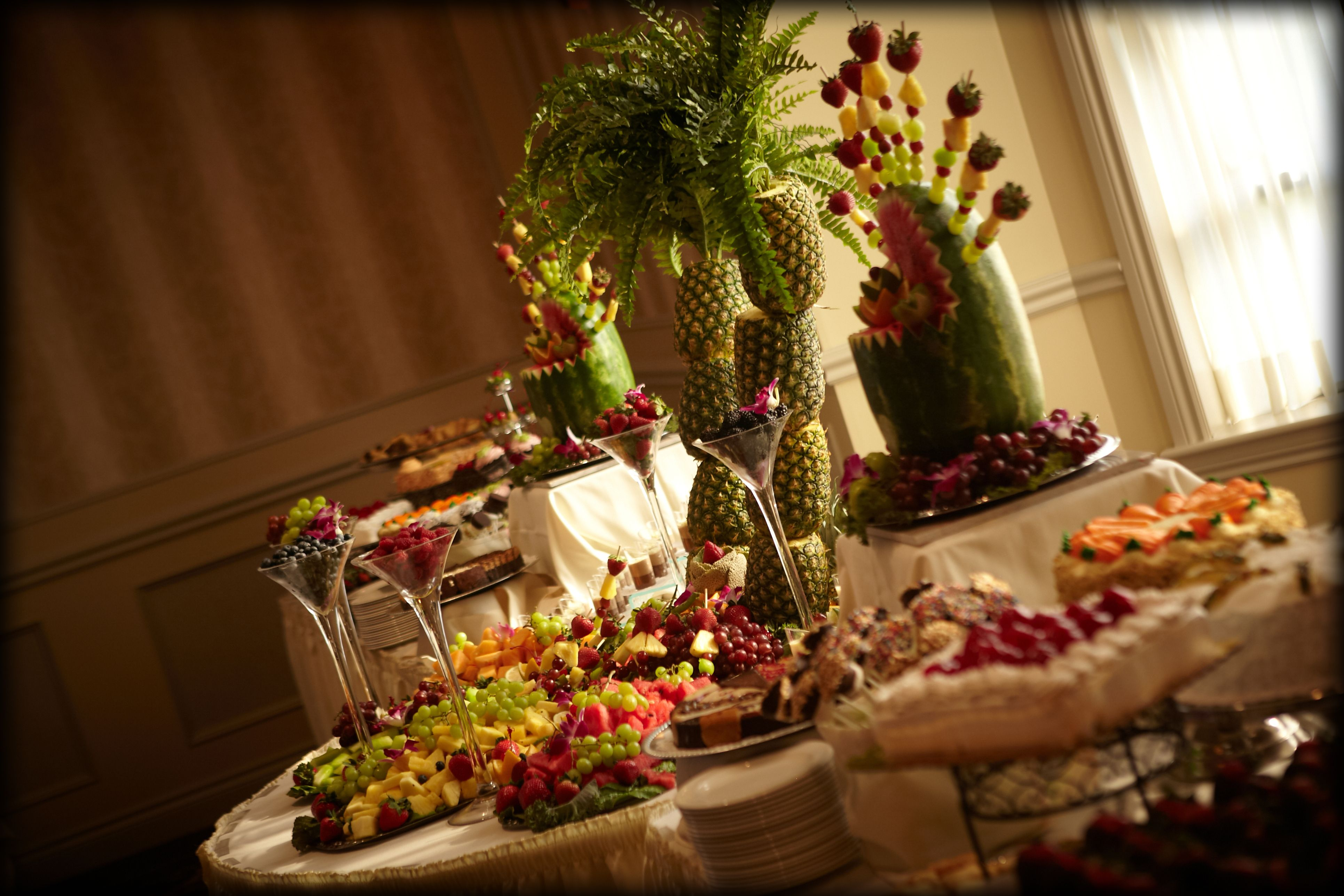 fruit carved centerpieces | Sensational Sweet Tables | wedding ...