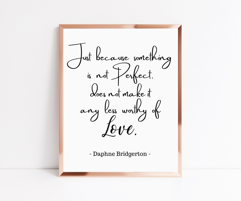 Bridgerton Print - Love Quote Wall Art - Bridgerton Gift - Bridgerton Wall Art - Duke And I - Book Wall Art - Daphne Bridgerton - Printable