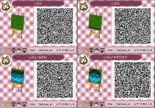 Dekoration animal crossing new leaf acnl qr codes Boden qr codes animal crossing new leaf