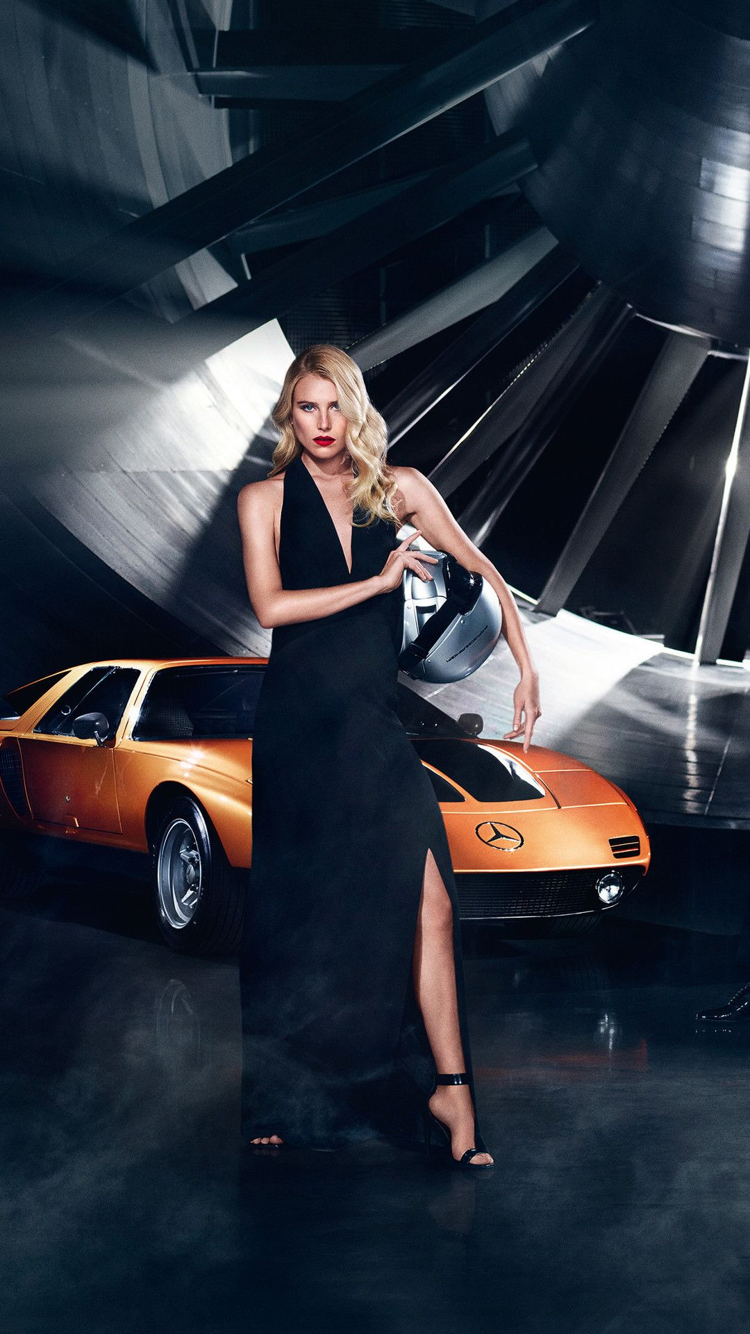 Dree Hemingway And Lewis Hamilton For Mercedes Benz Mobile