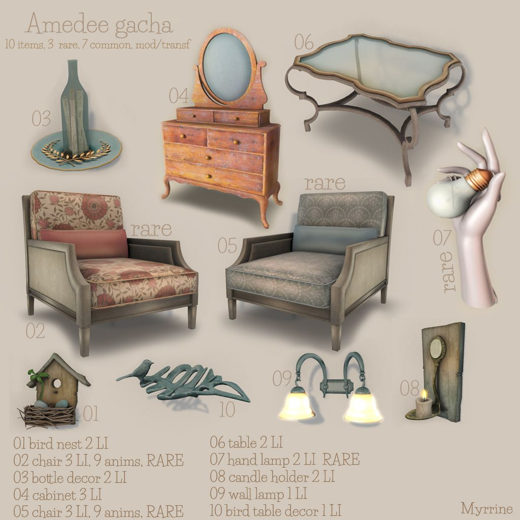 Second Life Store Amadee Gacha Available At Myrrine Second Life Store Myrrine