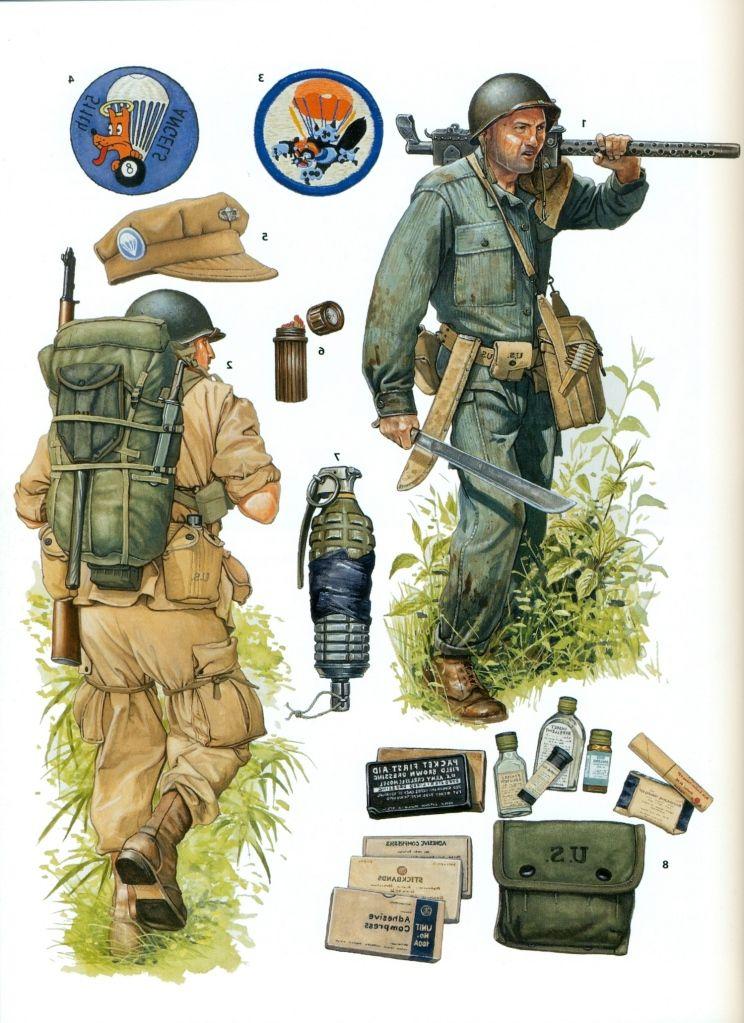 us world war ii parachute infantry regiments de gordon l rottman military art pinterest. Black Bedroom Furniture Sets. Home Design Ideas