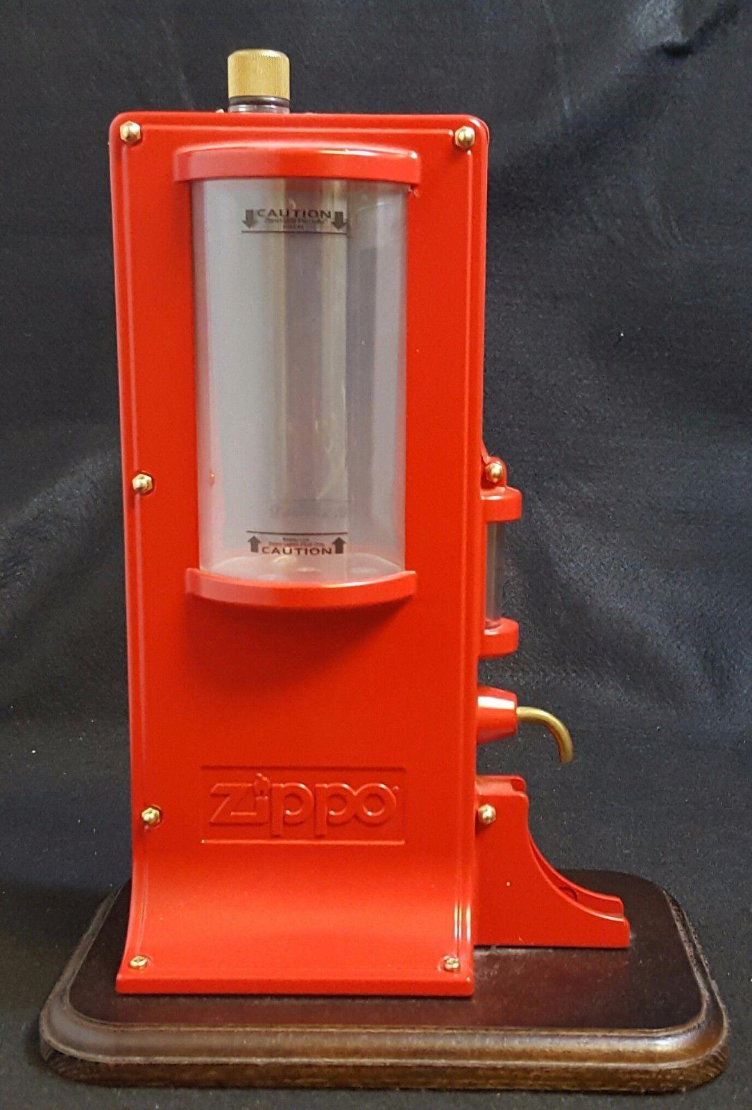 Rare Zippo Lighter Fluid Fuel Pump Filling Station Filler Zippo Lighter Fluid Zippo Lighter Lighter Fluid