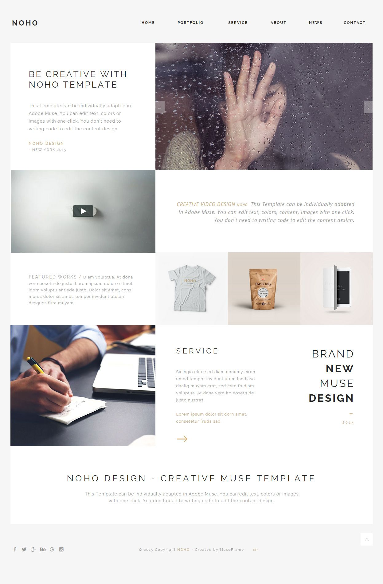 Noho One Page Muse Templates