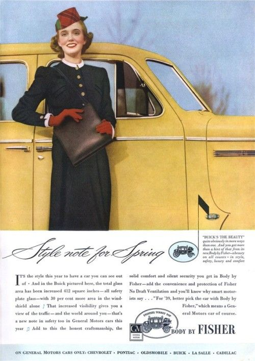 Body By Fisher 19390400 GH Vintage advertisements