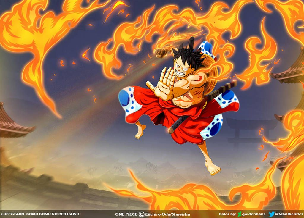 Luffy: Gomu gomu no Red Hawk // One Piece Ch917 by ...