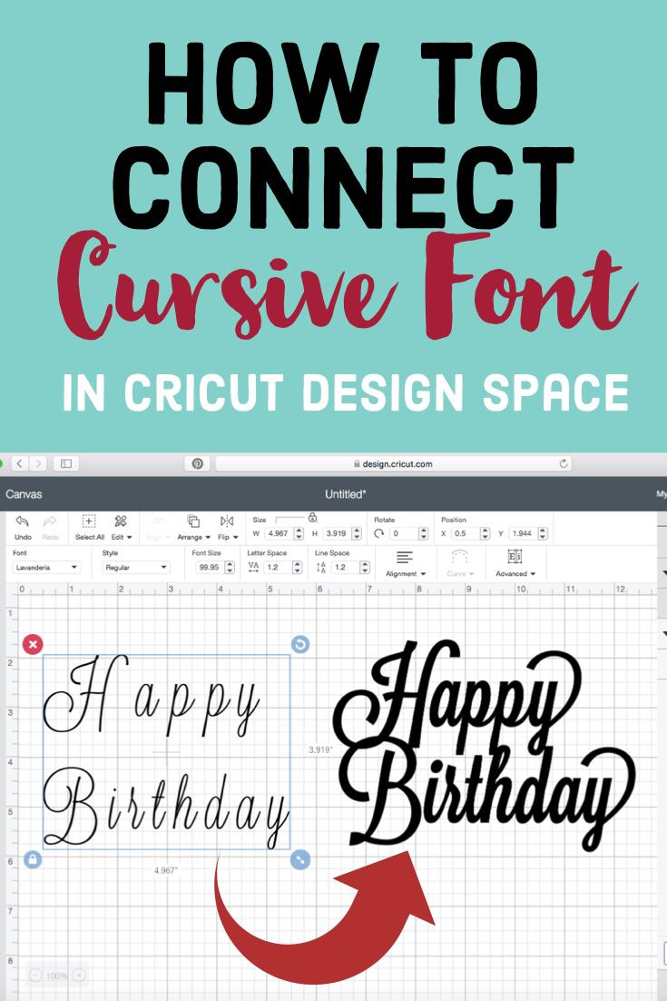 How To Connect Script Font : Creative Heart by Jen #cricutcrafts