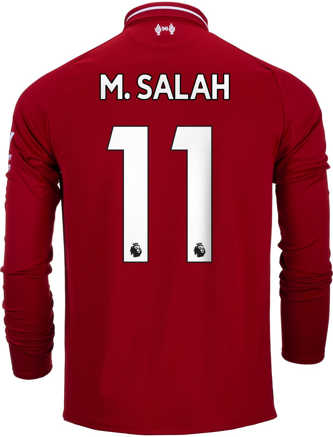 2018 19 New Balance Mohamed Salah Liverpool Home L S Jersey ... 84902bf91