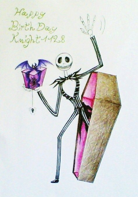 Happy Birthday With Images Nightmare Before Christmas Happy