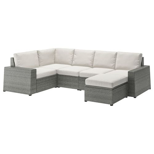 Applaro Modular Corner Sofa 3 Seat Outdoor Brown Stained Froson Duvholmen Red 56 1 4 87 3 4x31 1 2x33 1 8 In 2020 With Images Outdoor Cushions Ikea Cushions On Sofa