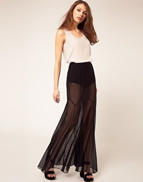 i like but hmm when would I wear a maxi skirt in mesh with ...