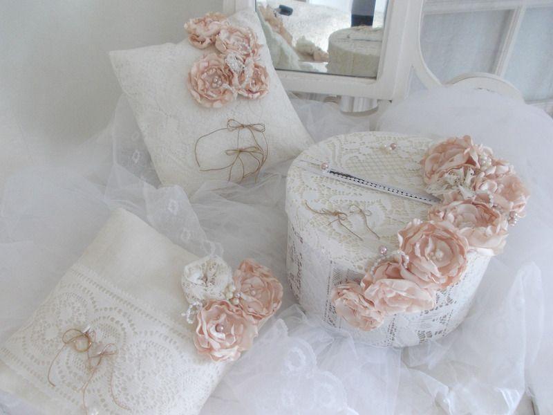 tirrelire de mariage shabby chic femme mariage vintage romantique fait maison oui. Black Bedroom Furniture Sets. Home Design Ideas